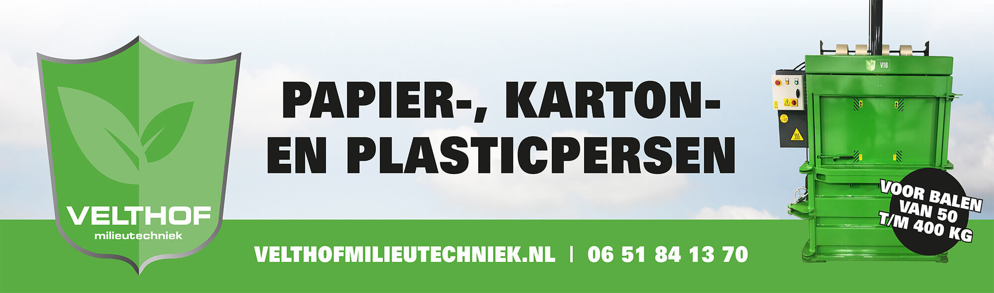 Balenpersen, afvalpersen en plastic persen